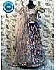 blue rubi silk heavy embroidered wedding bridal lehenga