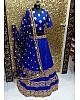 Blue tapeta silk embroidered wedding lehenga