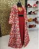 Designer Maroon partywear dhoti salwar suit with shrug