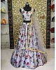 grey tapeta silk beautiful digital printed ceremonial lehenga