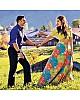 multicolored digital printed tapeta silk sara ali khan croptop lehenga