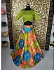 multicolored digital printed tapeta silk sara ali khan croptop lehenga