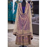 KG designer embroidered wedding purple salwar suit