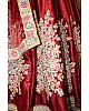 Beautiful Maroon embroidered Bridal lehenga