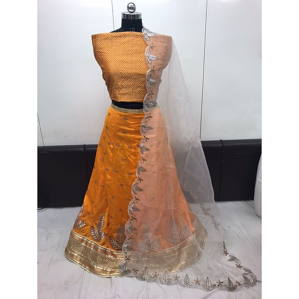 Beautiful Yellow embroidered Ceremonial lehenga