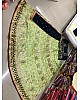 Green net embroidered sequence work wedding lehenga