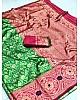 Green lichi soft silk zari weaving saree with jacquard blouse