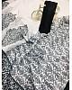 White malmal linen cotton saree
