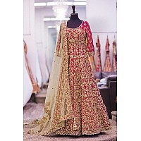 Designer heavy embroidered red wedding Suit