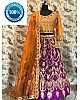 purple malai satin heavy embroidered bridal lehenga