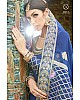blue art silk embroidered wedding gown with dupatta