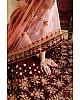 Maroon pure velvet designer heavy embroidered bridal lehenga