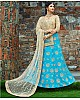 sky blue art silk embroidered wedding lehenga