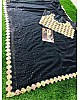 Black georgette fancy embroidered partywear saree