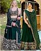 green soft tapeta silk heavy embroidered wedding lehenga choli