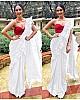 manushi chillar gorgeous designer plain partywear saree