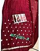 maroon georgette beautiful zari threadwork butti partywear saree