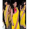 NARGIS yellow saree