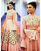 peach noora silk embroidered partywear lehenga
