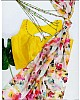 Multicolor georgette digital floral printed saree