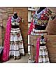 Navratri special heavy patch work white chaniya choli for garba festival
