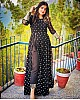 Black georgette embroidered salwar suit