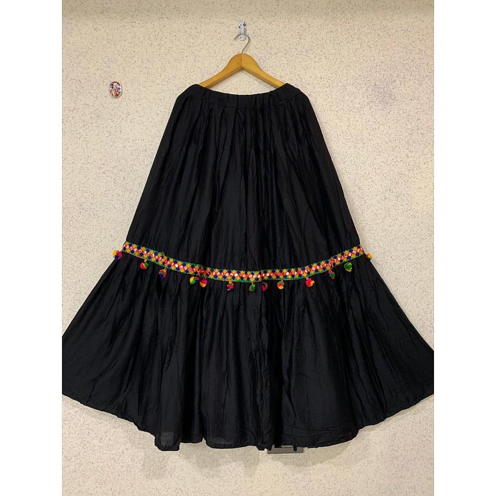 Black soft rayon stylist navratri special lehengha choli