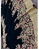 Green heavy velvet designer embroidered ceremonial lehenga choli