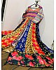 Multi colored banglori satin digital printed salwar suit