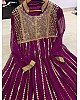 Purple georgette sequence work partywear gown