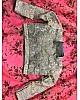 Baby pink digital printed organza silk ceremonial lehenga