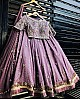 purple tapeta silk embroidered wedding lehenga