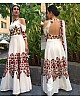 Bollywood style beautiful embroidred white gown