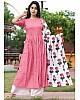 GT Rayon cotton casual kurti with printed dupatta