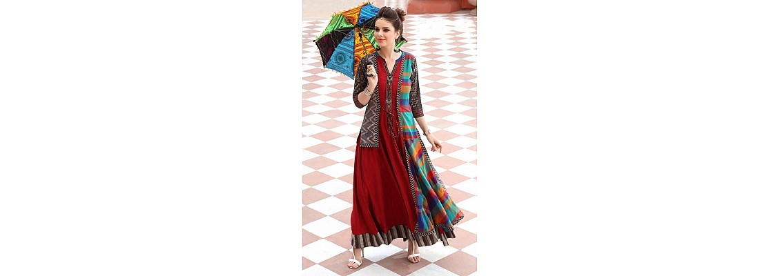 Latest Design For Long Kurti on Fashiondeal