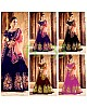 Multicolor velvet heavy embroidered wedding lehenga with can can net
