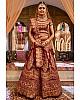Heavy embroidered maroon wedding bridal lehenga