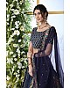 Navy blue art silk embroidery work designer lehenga choli