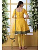 Yellow art silk salwar suit
