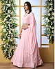 Baby pink georgette heavy embroidered wedding lehenga choli