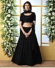 Black georgette heavy embroidered wedding lehenga choli