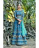 Designer blue silk heavy embroidered designer bridal wedding lehenga choli
