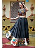 Navratri special black soft cotton multi worked chaniya choli for garba