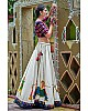 Navratri special off white soft cotton chaniya choli for garba