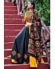 Navratri special yellow and black soft cotton chaniya choli for garba