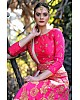 Rani pink silk designer embroidered heavy bridal lehenga choli