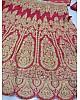 Red phantom silk heavy embroidered bridal lehenga