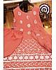 Peach georgette paper mirror work plazzo salwar suit