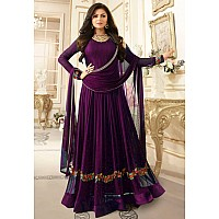 purple Georgette embroidered anarkali suit