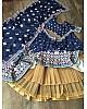 Navy blue vaishali silk digital printed lehenga choli